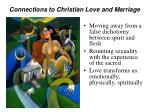 connections to christian love and marriage