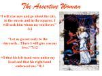 the assertive woman