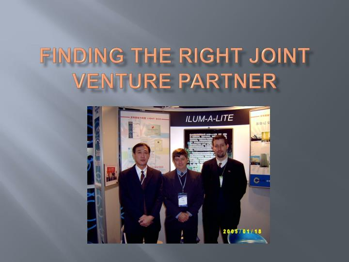 finding the right joint venture partner n.