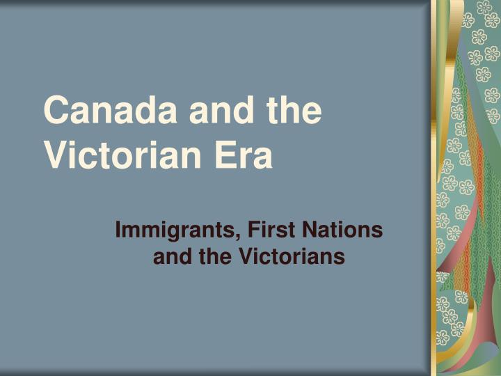 canada and the victorian era n.