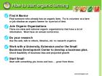 how to start organic farming