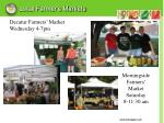 local farmer s markets