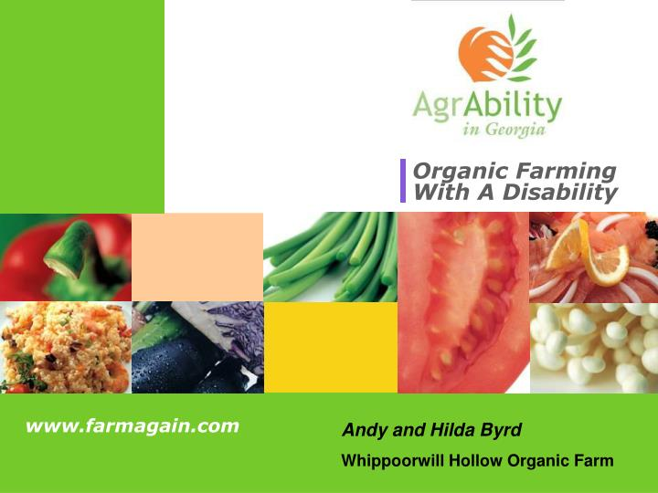 organic farming with a disability n.