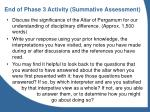 end of phase 3 activity summative assessment
