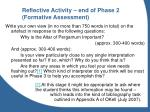 reflective activity end of phase 2 formative assessment