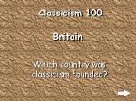 classicism 100