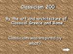 classicism 200