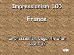 impressionism 100