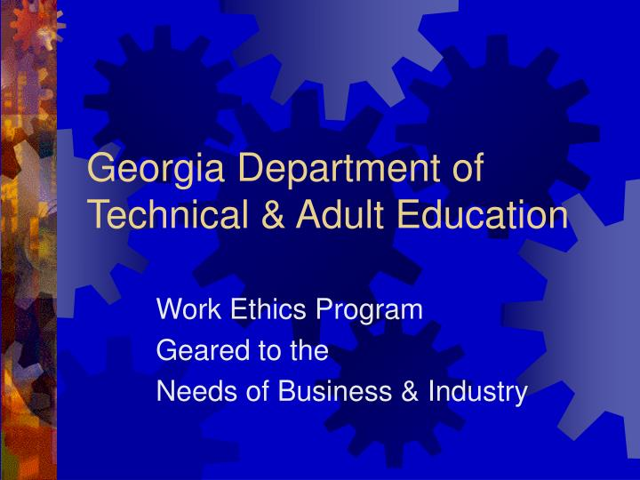 georgia department of technical adult education n.