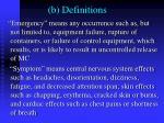 b definitions