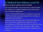 j medical surveillance cont d4
