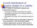 current distributions of property subject to a liability
