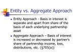 entity vs aggregate approach