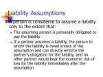 liability assumptions
