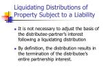 liquidating distributions of property subject to a liability