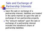 sale and exchange of partnership interests