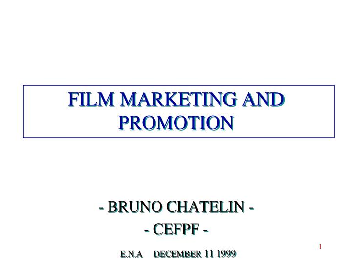 film marketing and promotion n.