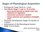 stages of phonological acquisition