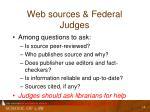 web sources federal judges