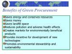 benefits of green procurement