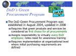 dod s green procurement program