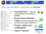 how do you know a product is green