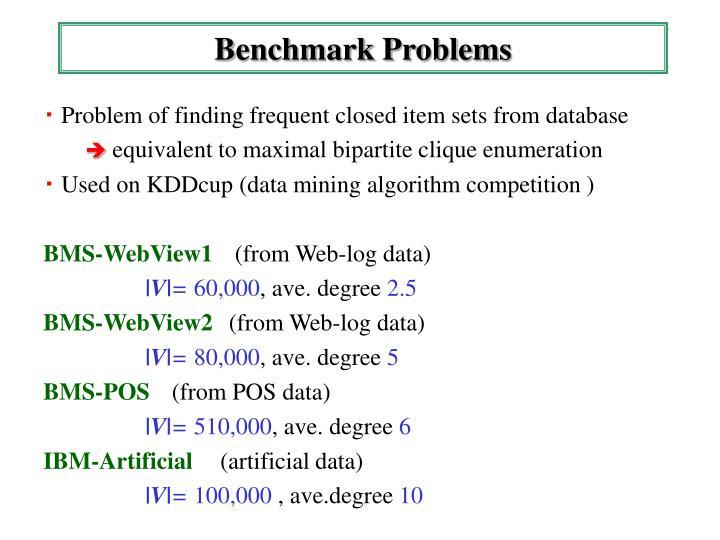 Benchmark Problems