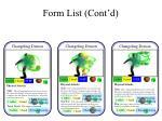 form list cont d1