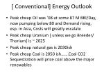 conventional energy outlook