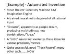 example automated invention