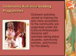 community audience building programmes