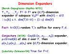 dimension expanders