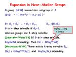 expansion in near abelian groups