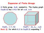 expansion of finite groups