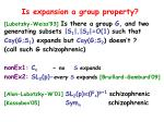 is expansion a group property