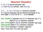 monotone expanders