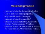 metalclad pressure