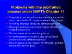 problems with the arbitration process under nafta chapter 11