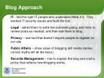 blog approach
