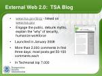 external web 2 0 tsa blog