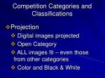 competition categories and classifications10