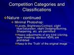 competition categories and classifications3