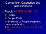 competition categories and classifications4