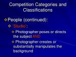 competition categories and classifications7
