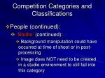 competition categories and classifications8