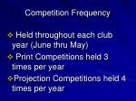 competition frequency