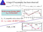 a large cp asymmetry has been observed