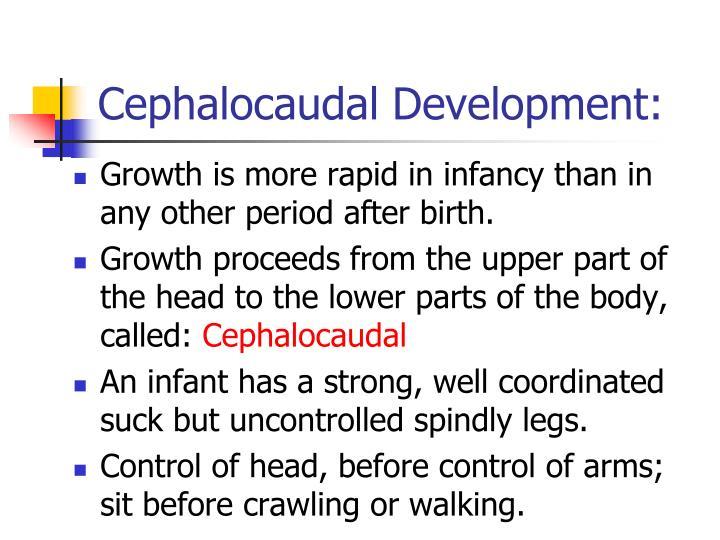 cephalocaudal development definition