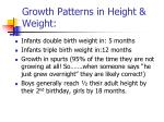 growth patterns in height weight