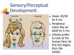 sensory perceptual development